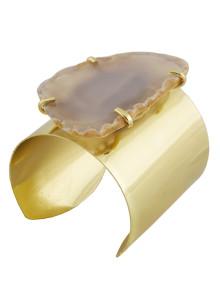1108-G-#2-Gold-Plate-Agate-Cuff-Gray