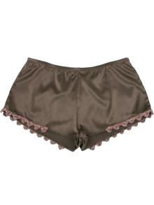 C414B-silk-knit-trimmed-shorts-brown